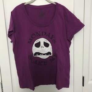 Purple 'Mondays Scare Me' T-Shirt